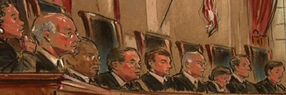Supreme-Court-justices-banner-by-william-hennessy-jr-cbs-news